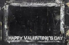 Happy Valentine`s Day grungy chalkboard background