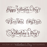 Happy valentine's day hand lettering. Stock Photos