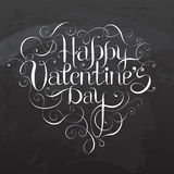 Happy Valentine`s DAY hand lettering Royalty Free Stock Photography
