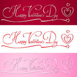 Happy valentines day hand lettering. EPS10 Stock Photos
