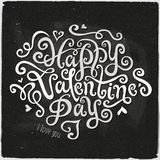 Happy Valentine's Day hand lettering Royalty Free Stock Photos