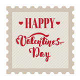 Happy Valentine's Day. Hand lettering. Handmade calligraphy, vector. Greeting card. Happy Valentine's Day message. Stock Images