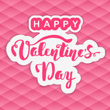 Happy Valentine's Day. Hand lettering. Handmade calligraphy, vector. Royalty Free Stock Photography