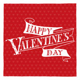 Happy Valentine's Day hand lettering Stock Photography