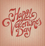 Happy valentine's day. Hand made calligraphy. EPS10, contains transparency for shadows Royalty Free Stock Photography