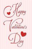 Happy valentine's day. Hand made calligraphy. EPS10, contnains transparency for shadows Stock Image