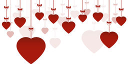 Happy Valentine`s Day hanging ornaments Stock Photo