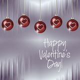 Happy Valentine`s Day Hanging ornaments royalty free stock image