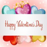 Happy valentine`s day. Cute colorful balloon vector illustration