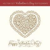 Happy valentine's day heart. Royalty Free Stock Photo