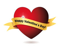 Happy Valentine's Day Heart Royalty Free Stock Photos