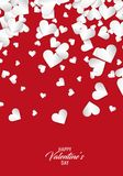 Happy Valentine`s day. Heart Background Royalty Free Stock Image