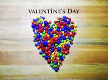 Happy Valentine`s Day heart,Colorful royalty free stock photos