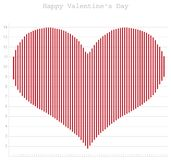 Happy Valentine\'s Day, heart diagram for office Stock Photo