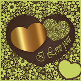 Happy valentine`s day  - heart flowers collection Royalty Free Stock Image