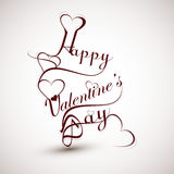 Happy valentines day heart for lettering text desi Stock Photos