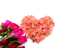 Happy Valentine's Day. A heart of red cristal for my Valentine Royalty Free Stock Photo