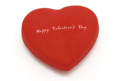Happy Valentine's day on heart symbol Royalty Free Stock Photography