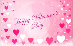 Happy Valentine`s Day hearts message Royalty Free Stock Photos