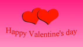Happy Valentine`s day. Hearts on pink background. Happy Valentine`s day. Hearts on pink background stock video