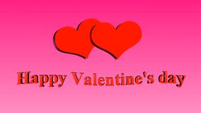 Happy Valentine`s day. Hearts on pink background. Happy Valentine`s day. Hearts on pink background stock footage