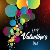 Happy Valentine`s Day.Holiday bubble and bokeh effect background. vector illustration. EPS 10 vector illustration