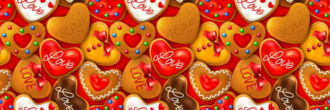 Happy Valentine's day horizontal banner Stock Images