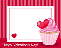 Happy Valentine`s Day Horizontal Frame Stock Photos