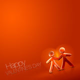 Happy Valentine's Day Illustrated Couple IX Stock Photography