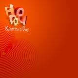 Happy Valentine's Day Illustrated Types IV Royalty Free Stock Image