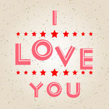 Happy Valentine's Day illustration Royalty Free Stock Images