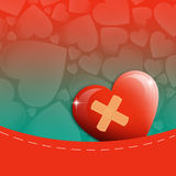Happy Valentine's day. An illustration of a heart in pocket royalty free illustration