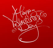 Happy Valentine's Day inscription. Stock Images