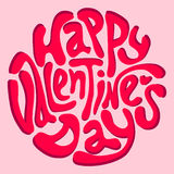 Happy Valentine's Day inscription Royalty Free Stock Image