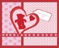Happy Valentine's Day invitation card Stock Image