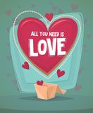 Happy Valentine's day invitation card Stock Images
