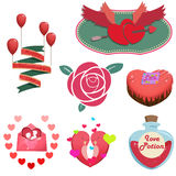 Happy Valentine's Day Items and Objects Royalty Free Stock Photography