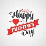 Happy Valentine's Day Lettering Card - Royalty Free Stock Image