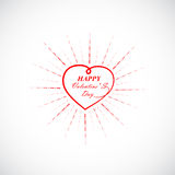 Happy Valentine's day lettering card.Valentines day vintage lett Royalty Free Stock Image