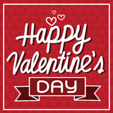 Happy Valentine's Day lettering Card , vector illustration Royalty Free Stock Photos