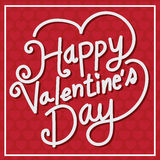 Happy Valentine's Day lettering Card , vector illustration Stock Images