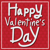 Happy Valentine's Day lettering Card , vector illustration Stock Photos