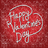 Happy Valentine's Day lettering Card , vector illustration Royalty Free Stock Images