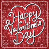 Happy Valentine's Day lettering Card , vector illustration Royalty Free Stock Photo