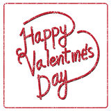 Happy Valentine's Day lettering Card , vector illustration Stock Photo