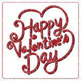 Happy Valentine's Day lettering Card , vector illustration Stock Image