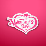 Happy Valentine's Day lettering design Stock Image
