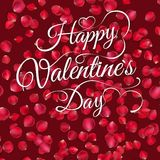 Happy Valentine's Day lettering. EPS 10 Royalty Free Stock Photo