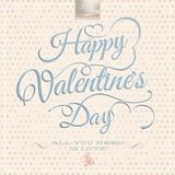 Happy Valentine's Day - Lettering. EPS 10 Stock Photo