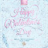 Happy Valentine's Day - Lettering. EPS 10 Royalty Free Stock Image